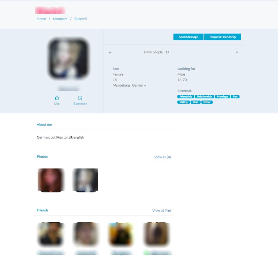 Profiles chat